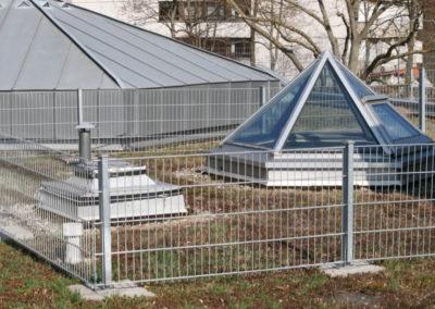 Glasdach und Zaun 1000 641